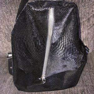 Dream Control Snake Embossed Velvet Backpack